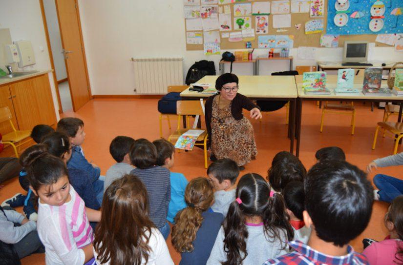 Biblioteca Municipal promove encontro da escritora Lurdes Breda com alunos da Escola Básica do Bolho